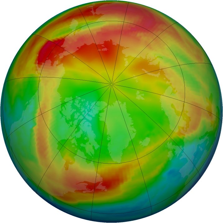 Arctic ozone map for 04 February 1980