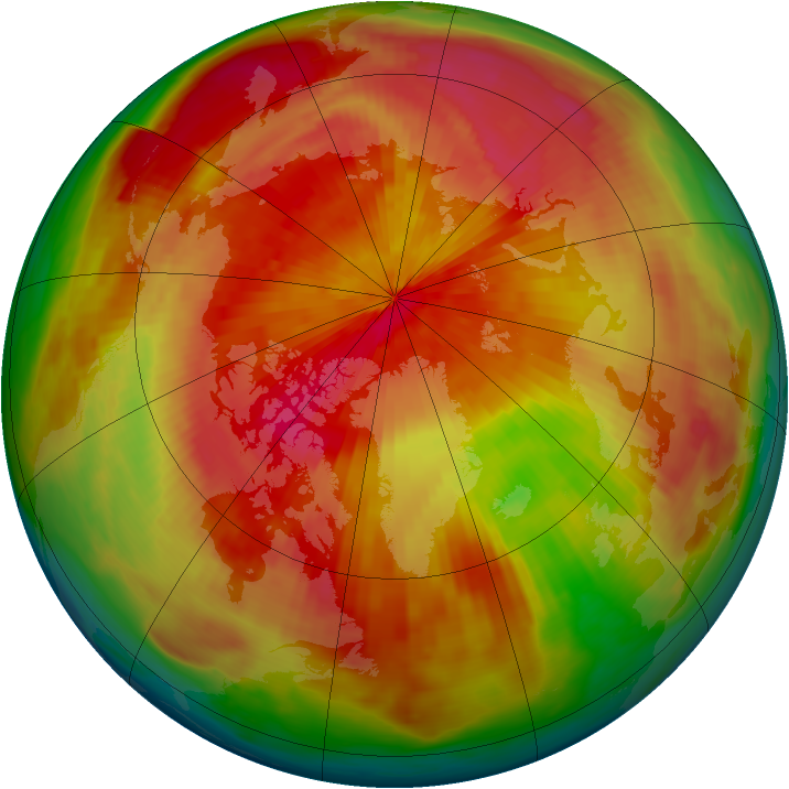 Arctic ozone map for 04 April 1980