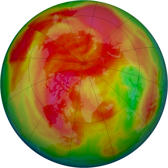 Arctic ozone map for 06 April 1980