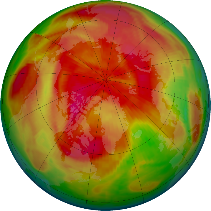 Arctic ozone map for 08 April 1980