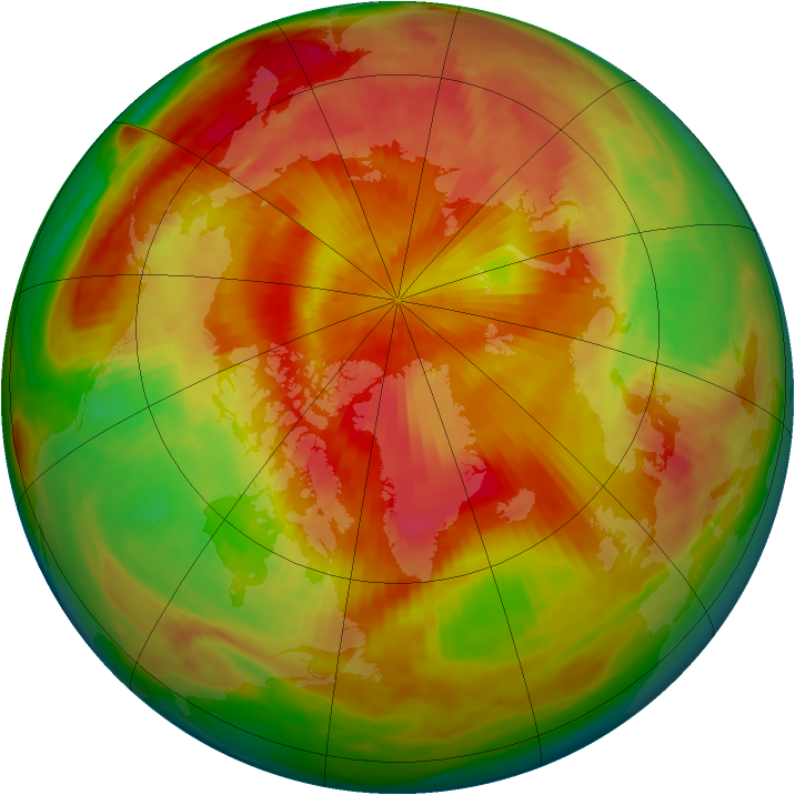 Arctic ozone map for 27 April 1980