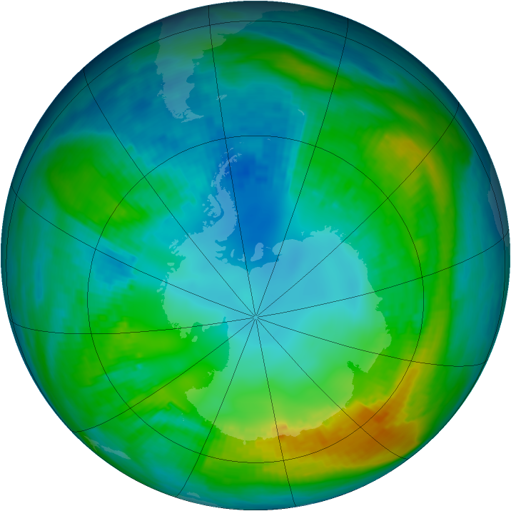 Antarctic ozone map for 01 May 1980