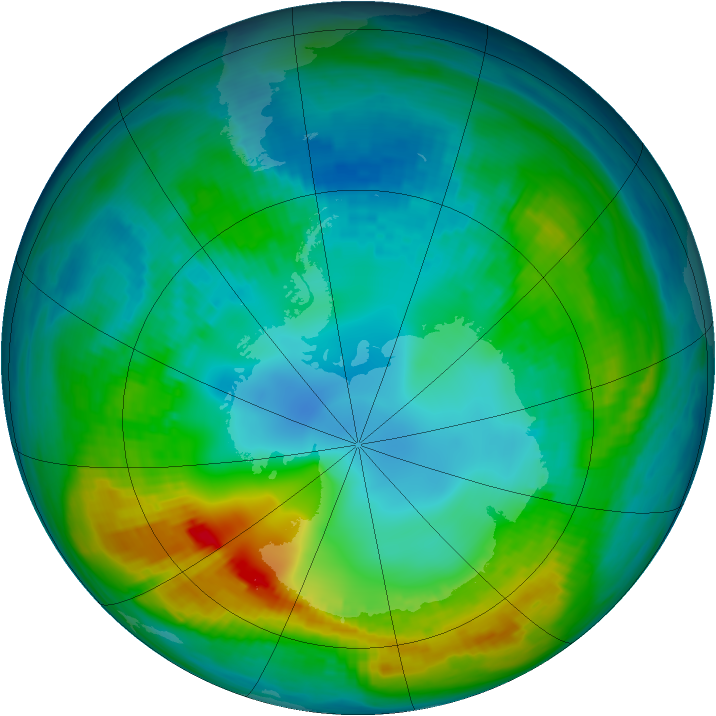 Antarctic ozone map for 03 May 1980