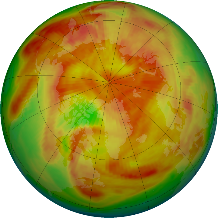 Arctic ozone map for 05 May 1980