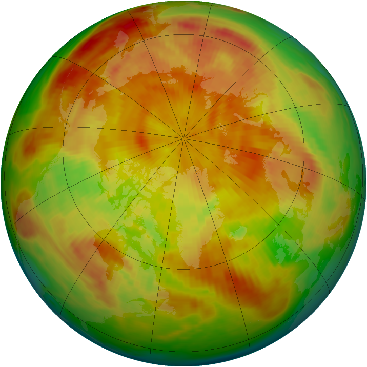 Arctic ozone map for 11 May 1980