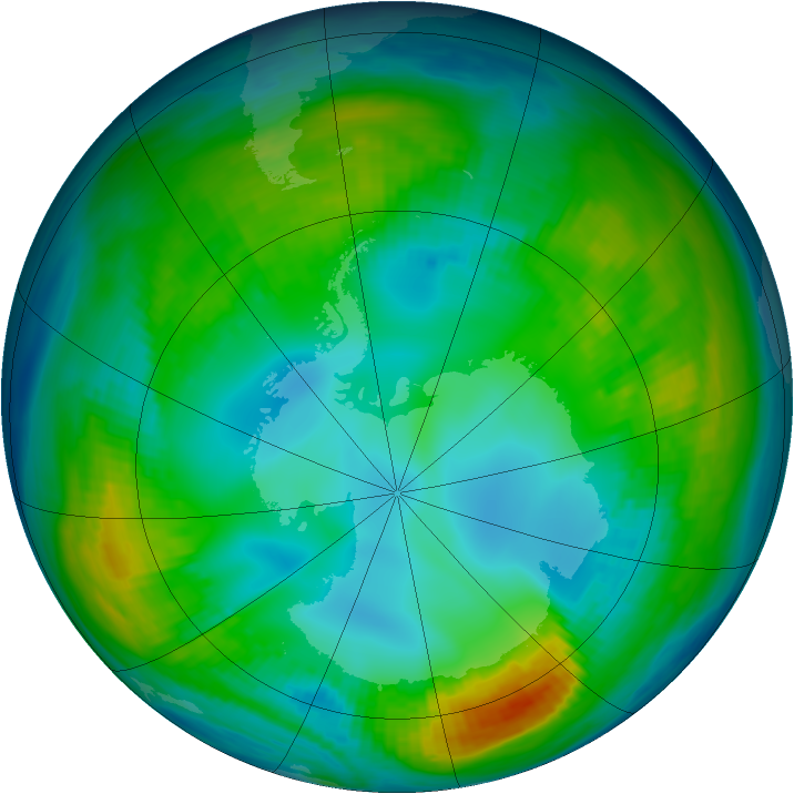 Antarctic ozone map for 11 May 1980