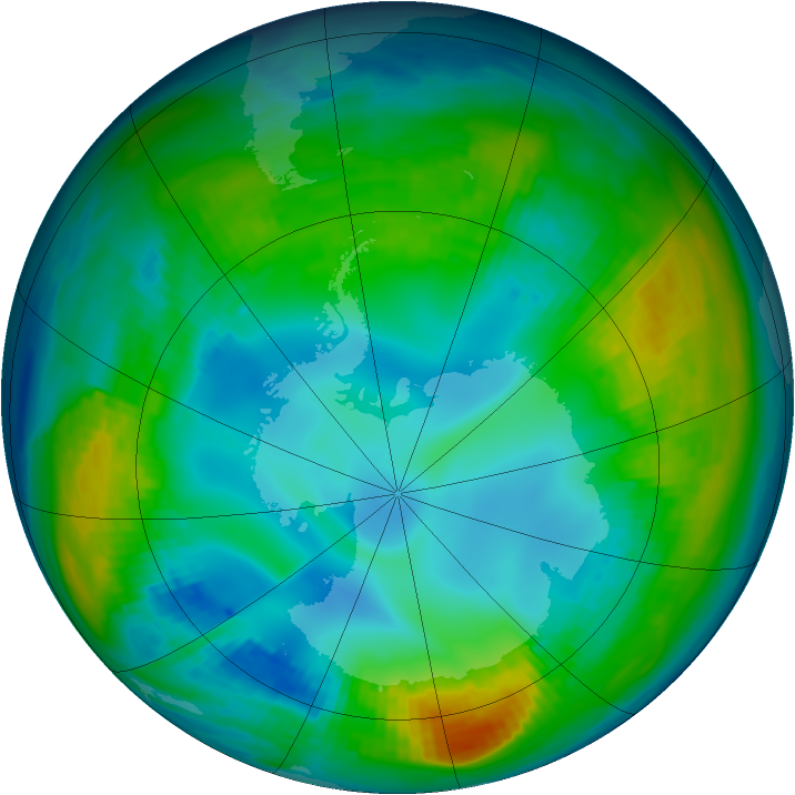 Antarctic ozone map for 12 May 1980