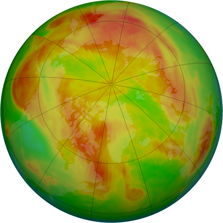Arctic ozone map for 20 May 1980
