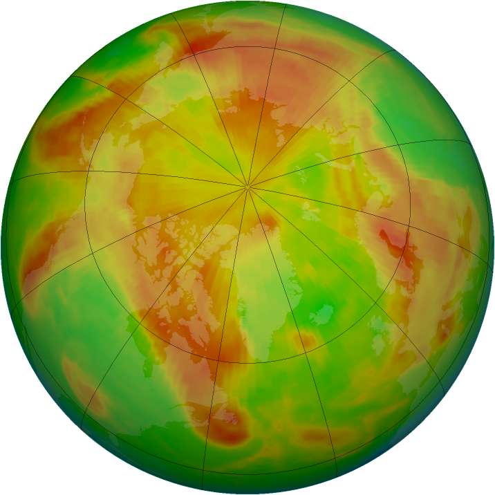 Arctic ozone map for 23 May 1980