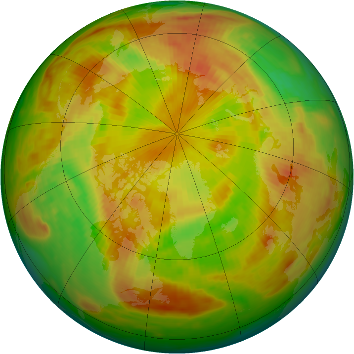 Arctic ozone map for 25 May 1980