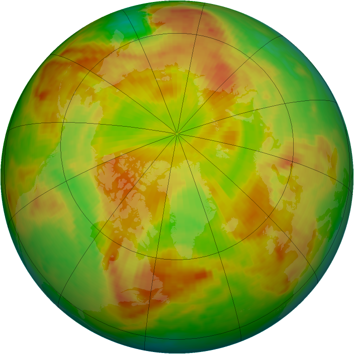 Arctic ozone map for 27 May 1980