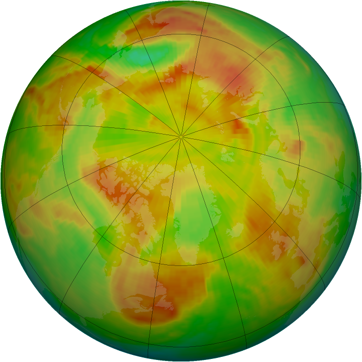 Arctic ozone map for 28 May 1980