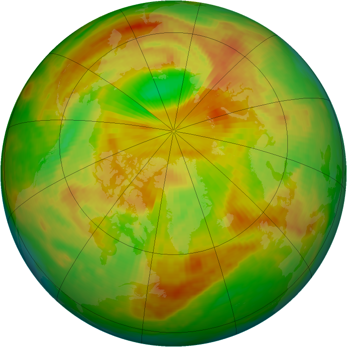Arctic ozone map for 30 May 1980