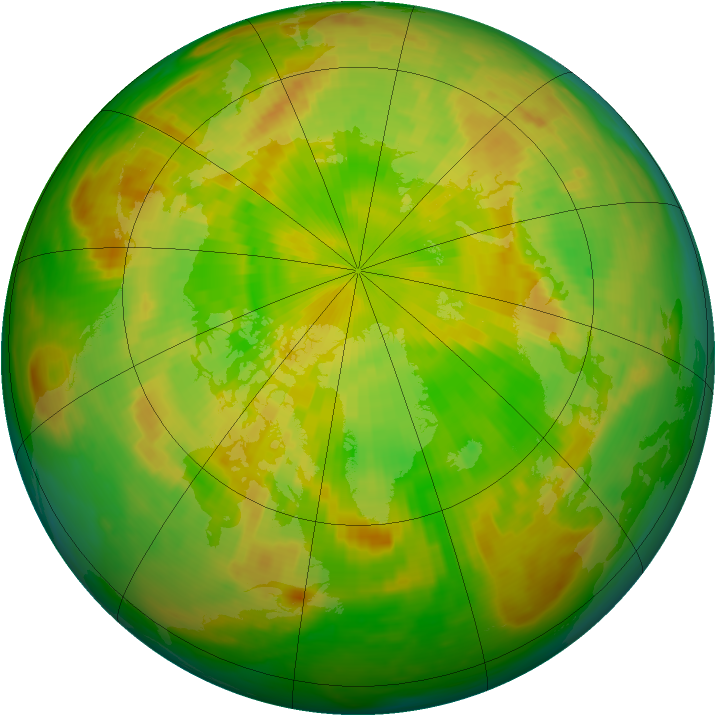 Arctic ozone map for 12 June 1980