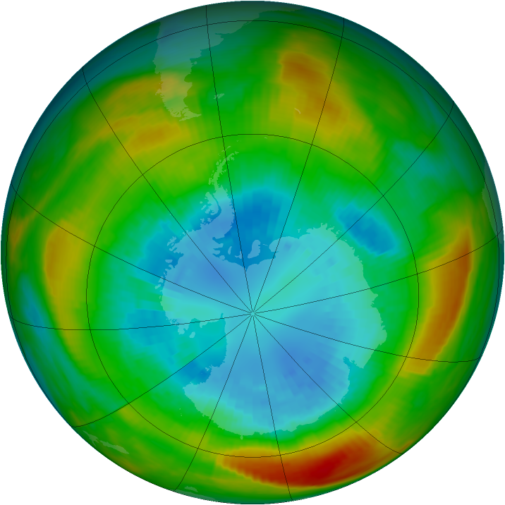 Antarctic ozone map for 06 September 1980