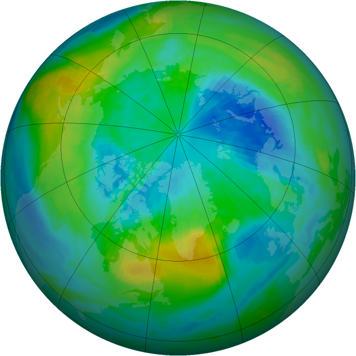 Arctic ozone map for 30 September 1980