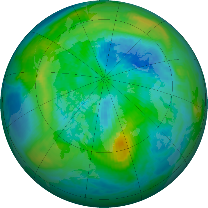Arctic ozone map for 02 October 1980