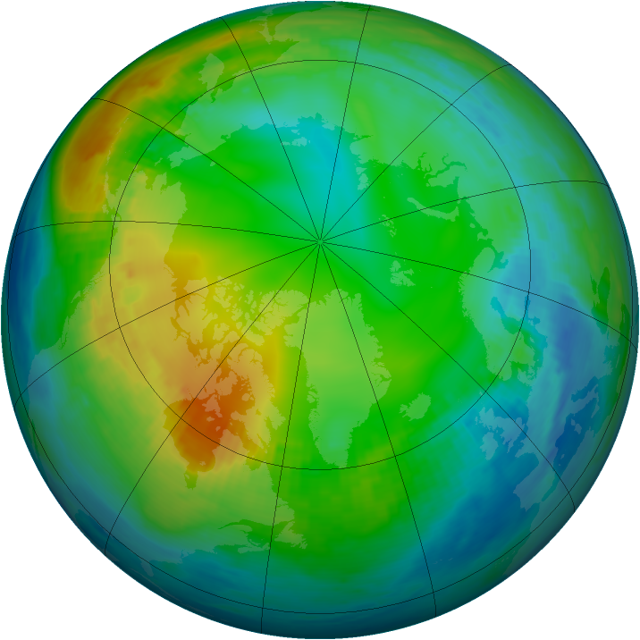 Arctic ozone map for 21 November 1980