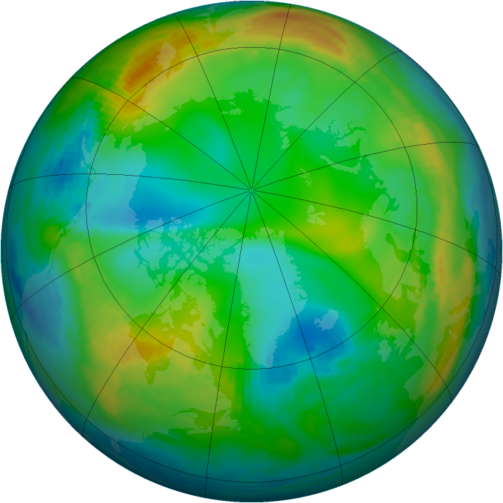 Arctic ozone map for 02 December 1980