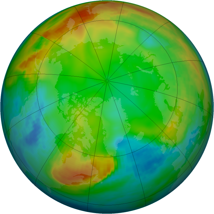 Arctic ozone map for 04 January 1981