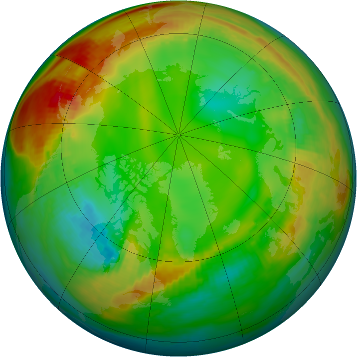 Arctic ozone map for 17 January 1981