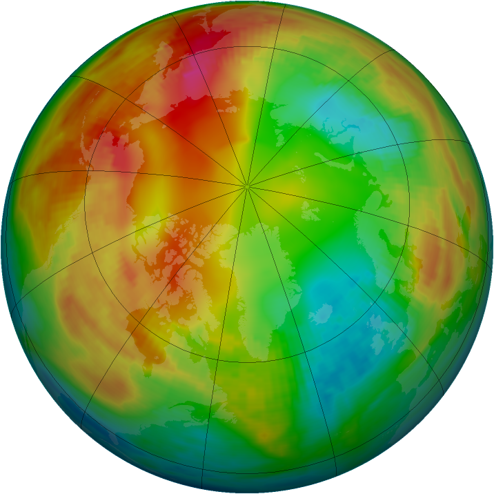 Arctic ozone map for 26 January 1981