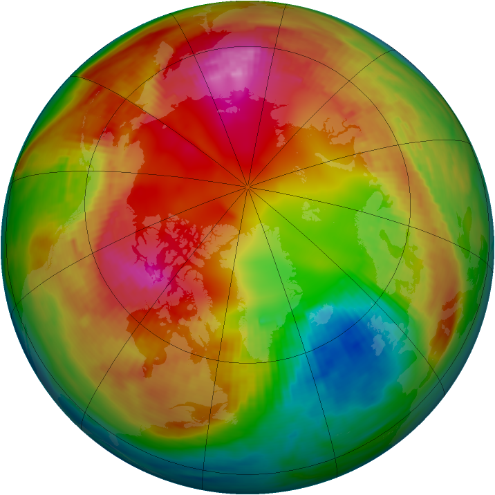 Arctic ozone map for 05 February 1981