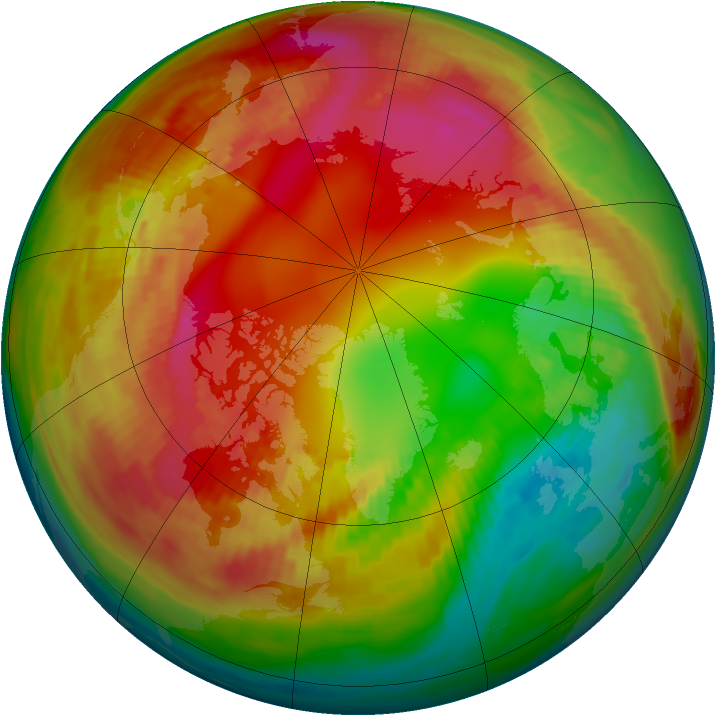 Arctic ozone map for 07 February 1981