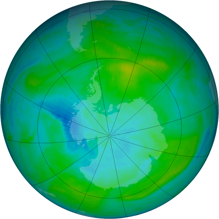 Antarctic ozone map for 18 February 1981