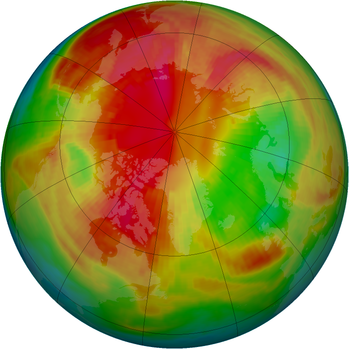 Arctic ozone map for 28 February 1981