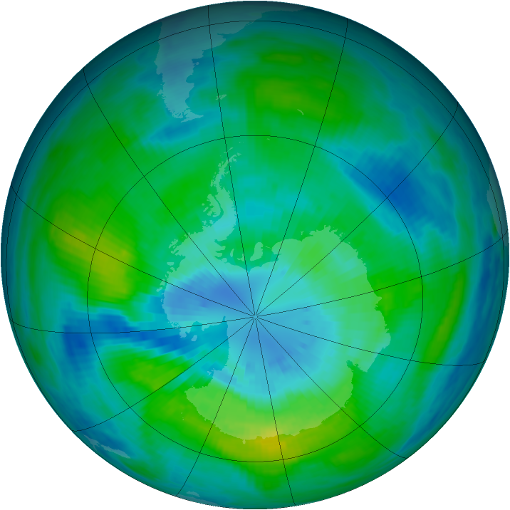Antarctic ozone map for 26 March 1981