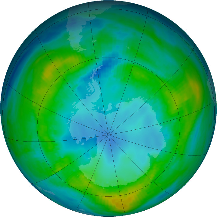 Antarctic ozone map for 01 May 1981