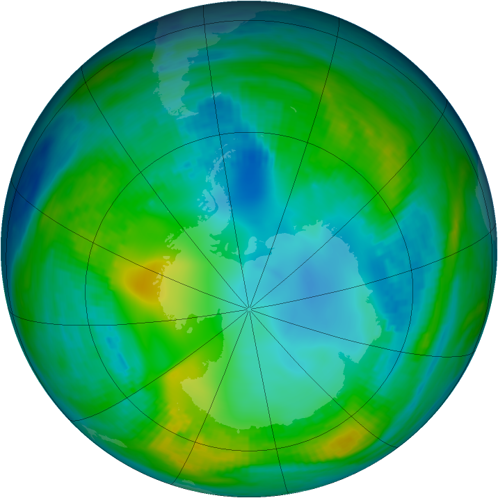 Antarctic ozone map for 11 May 1981