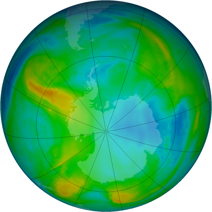 Antarctic ozone map for 12 May 1981