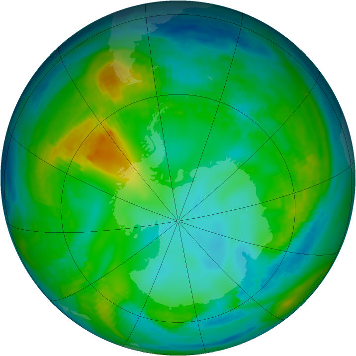 Antarctic ozone map for 18 May 1981