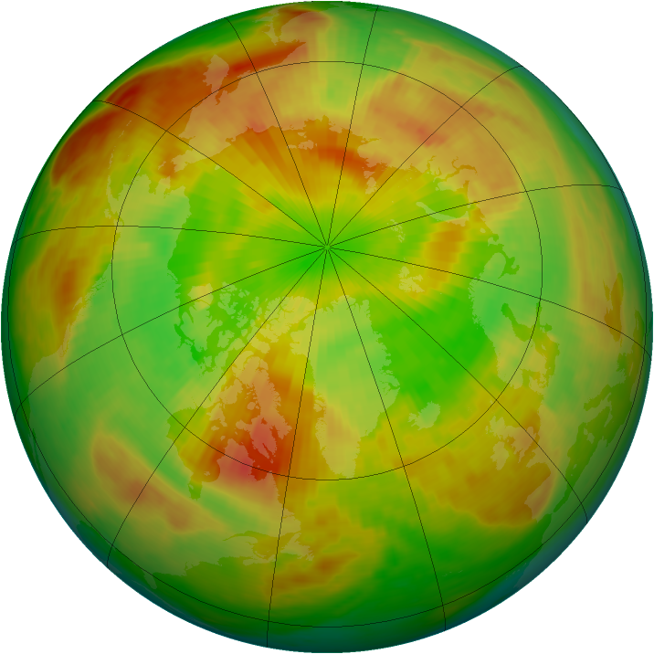 Arctic ozone map for 25 May 1981