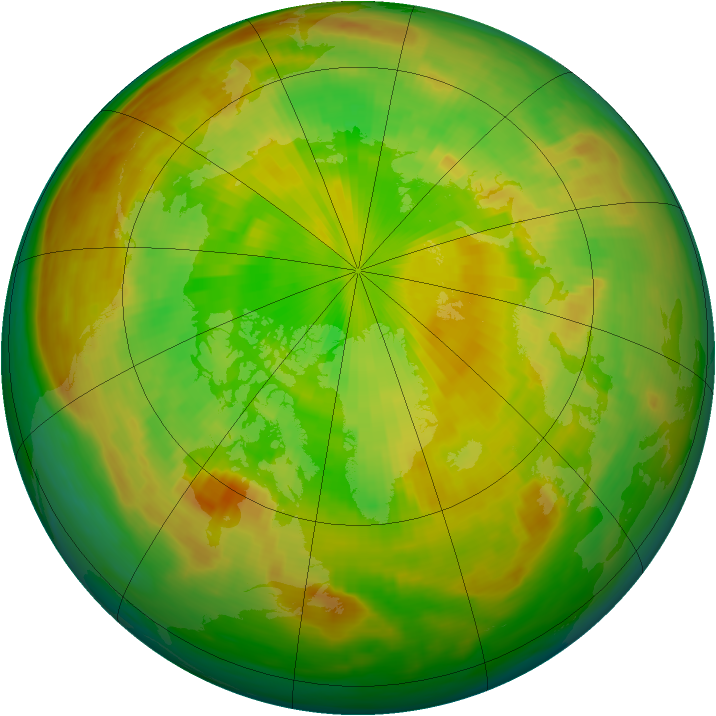 Arctic ozone map for 08 June 1981
