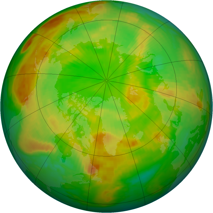 Arctic ozone map for 15 June 1981