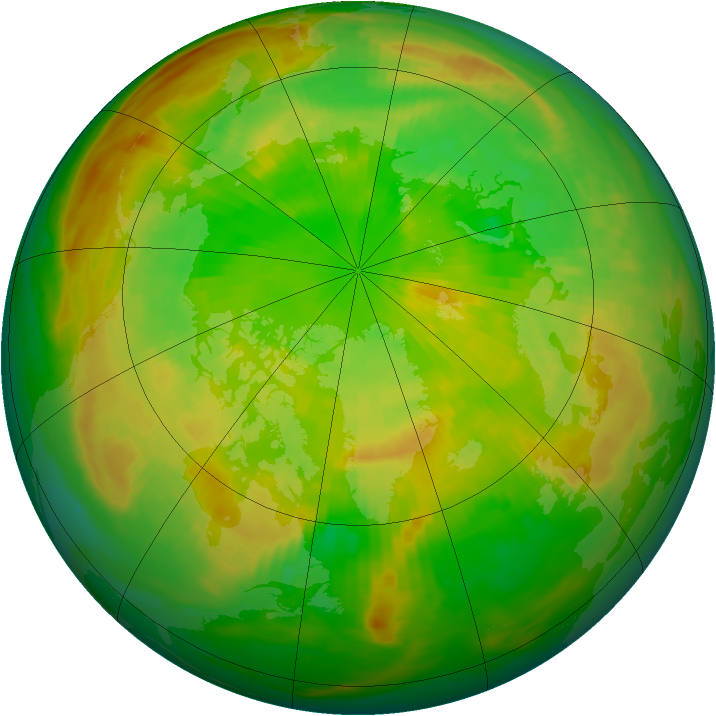 Arctic ozone map for 17 June 1981