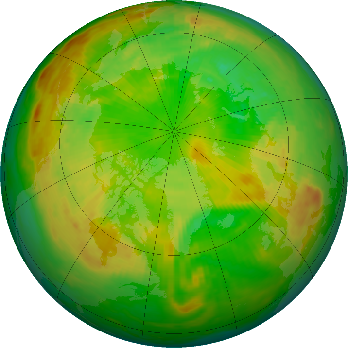 Arctic ozone map for 19 June 1981