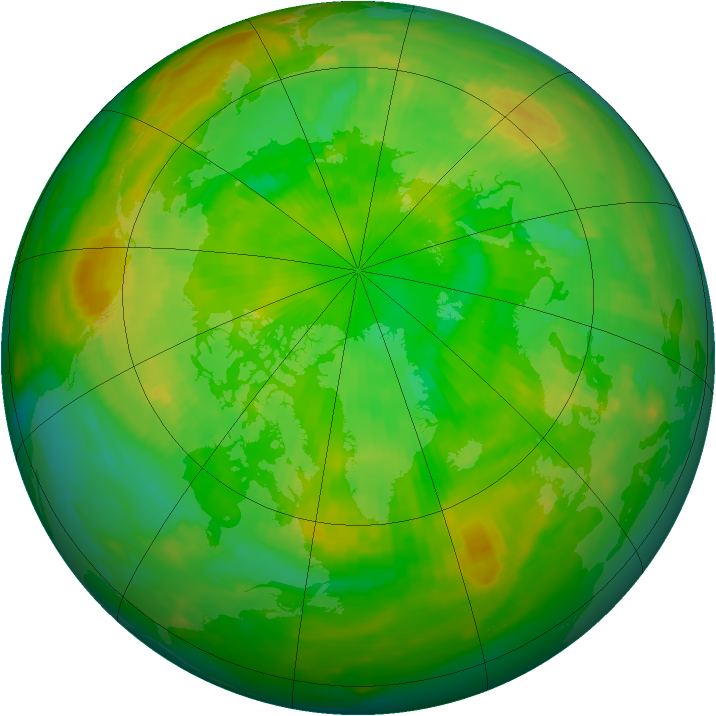 Arctic ozone map for 04 July 1981