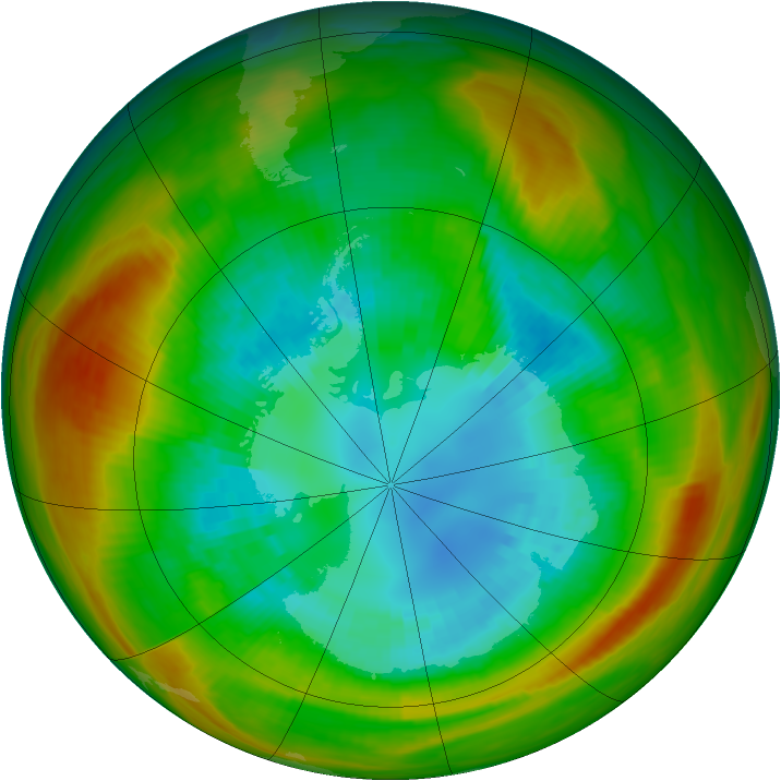Antarctic ozone map for 01 September 1981