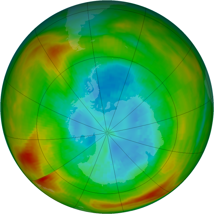 Antarctic ozone map for 06 September 1981