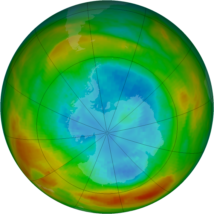 Antarctic ozone map for 08 September 1981