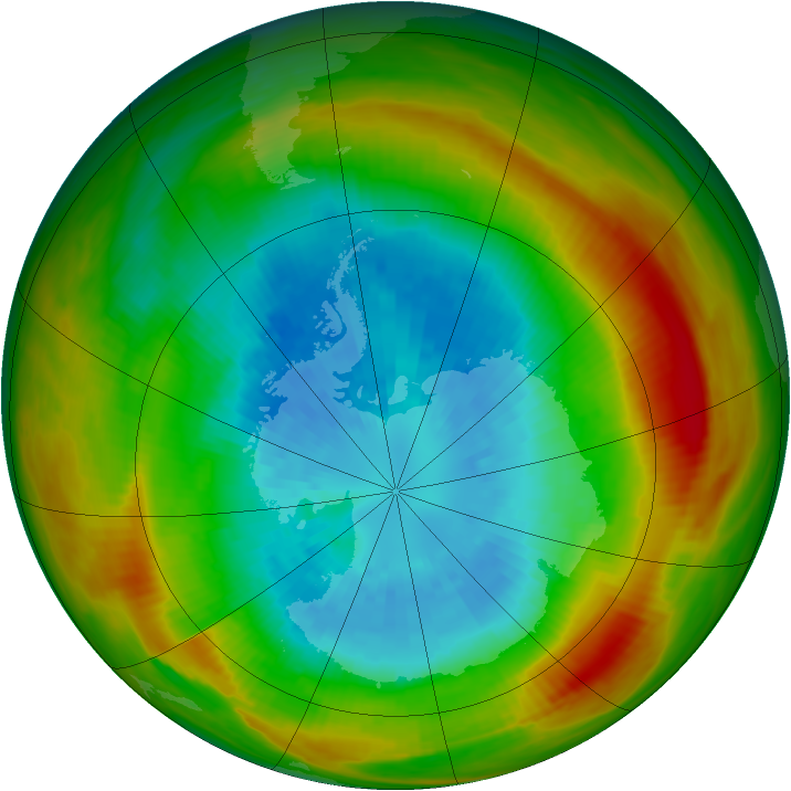 Antarctic ozone map for 18 September 1981