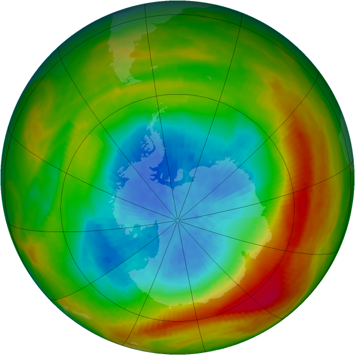 Antarctic ozone map for 27 September 1981