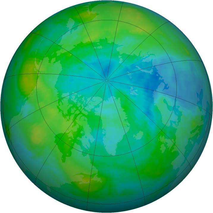 Arctic ozone map for 30 September 1981