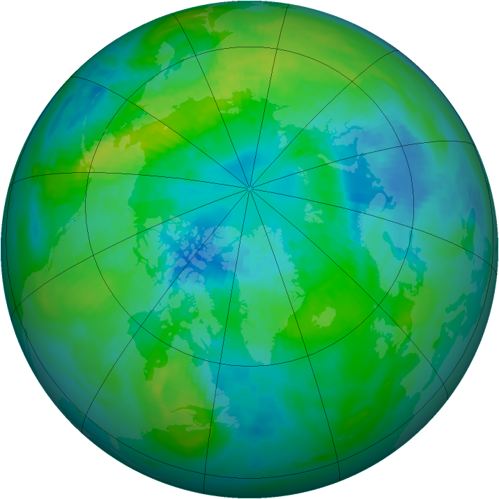 Arctic ozone map for 04 October 1981