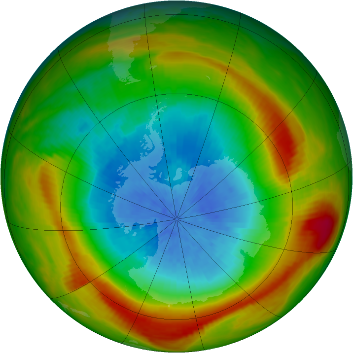 Antarctic ozone map for 06 October 1981