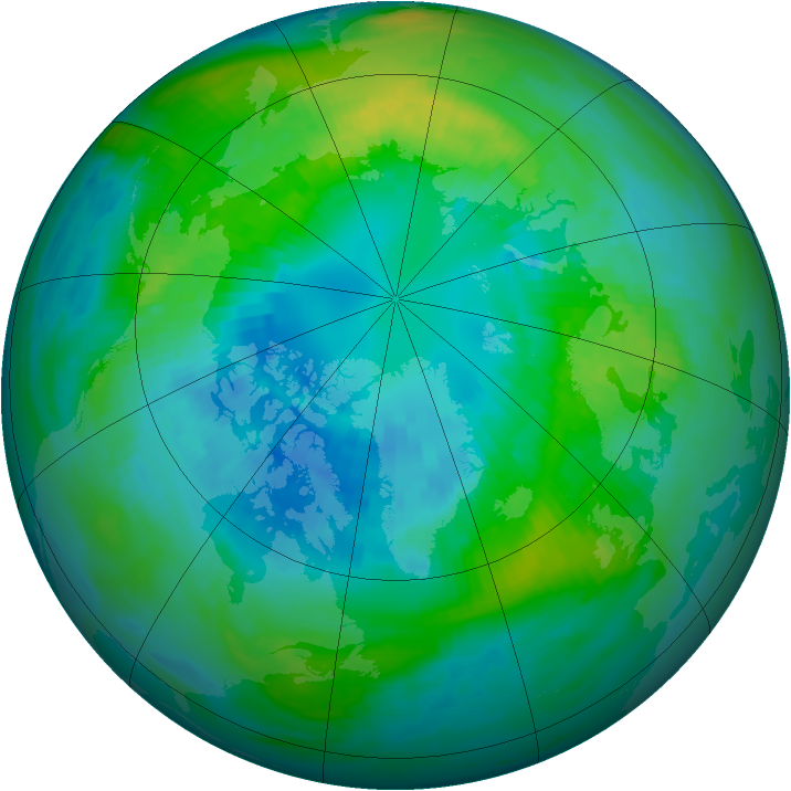 Arctic ozone map for 09 October 1981
